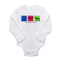 Peace Love Newfie Long Sleeve Infant Bodysuit