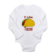 I Like Tacos Long Sleeve Infant Bodysuit
