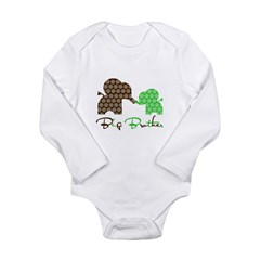Big Brother Elephan Long Sleeve Infant Bodysuit