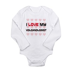 I Love My Volcanologist Long Sleeve Infant Bodysuit
