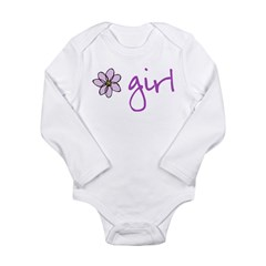 Flower Girl - Purple Long Sleeve Infant Bodysuit