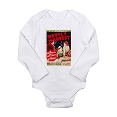 Marijuana Devil's Harvest Pot Long Sleeve Infant Bodysuit