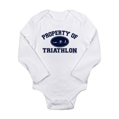 Property of Triathlon Icons Long Sleeve Infant Bodysuit