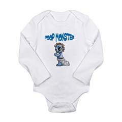 Poop Monster Long Sleeve Infant Bodysuit
