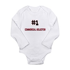 Number 1 COMMERCIAL SOLICITOR Long Sleeve Infant Bodysuit