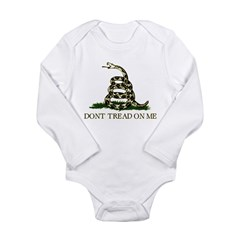 Don't Tread On Me - Long Sleeve Infant Bodysuit