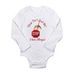Allergies Long Sleeve Infant Bodysuit