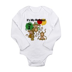 Monkey 2nd Birthday Long Sleeve Infant Bodysuit