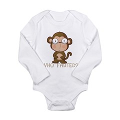 Who Farted? Long Sleeve Infant Bodysuit