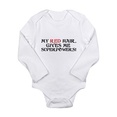 Red Headed Superpowers Long Sleeve Infant Bodysuit