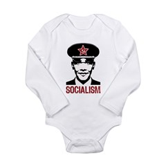 Obama Socialism Long Sleeve Infant Bodysuit