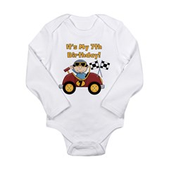 Race Car 7th Birthday Long Sleeve Infant Bodysuit