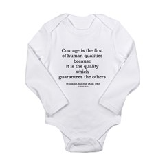 Winston Churchill 3 Long Sleeve Infant Bodysuit