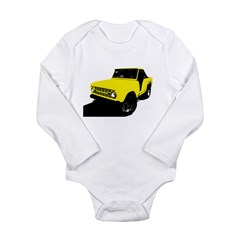 Yellow Bronco Long Sleeve Infant Bodysuit
