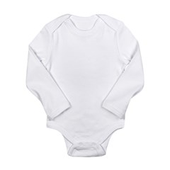 Grey Alien Blue Eyes Long Sleeve Infant Bodysuit
