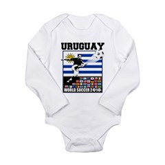 Uruguay World Soccer Futbol Long Sleeve Infant Bodysuit