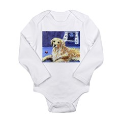 GOLDEN RETRIEVER senses moon Infant Creeper Long Sleeve Infant Bodysuit
