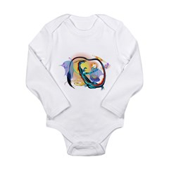 Blue Galaxy Dragon Long Sleeve Infant Bodysuit