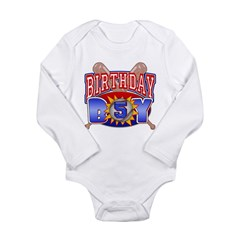 Baseball Boy 5th Birthday Long Sleeve Infant Bodysuit