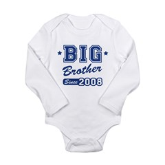 Big Brother Since 2008 Long Sleeve Infant Bodysuit
