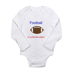 Football is my favorite subje Long Sleeve Infant Bodysuit