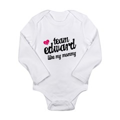 Team Edward Mommy Long Sleeve Infant Bodysuit