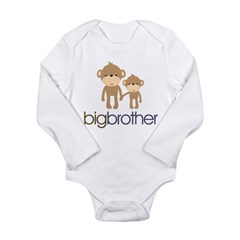 Big Brother Monkey Long Sleeve Infant Bodysuit