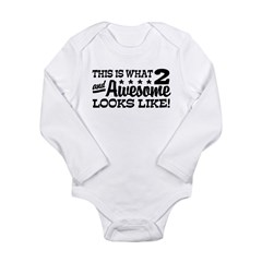 Funny Two Year Old Long Sleeve Infant Bodysuit