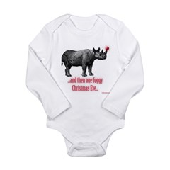 RhinofoggyXmaseve Long Sleeve Infant Bodysuit