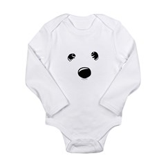 Westie Face Long Sleeve Infant Bodysuit