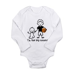 Big Cousin - Stick Characters Long Sleeve Infant Bodysuit