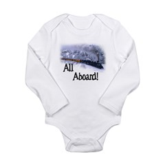 Trains Kids Long Sleeve Infant Bodysuit