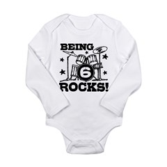 Cute 6th Birthday Long Sleeve Infant Bodysuit