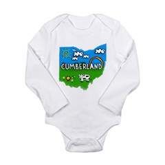 Cumberland, Ohio. Kid Themed Long Sleeve Infant Bodysuit
