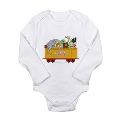 Freight Car Long Sleeve Infant Bodysuit
