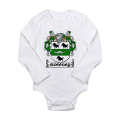 Sweeney Coat of Arms Infant Creeper Long Sleeve Infant Bodysuit
