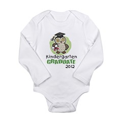 Kindergarten Graduate 2012 - Owl Long Sleeve Infant Bodysuit