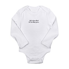 cheap yarn Long Sleeve Infant Bodysuit
