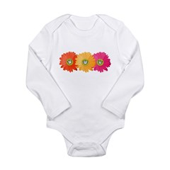 Happy Gerber Daisy Infant Creeper Long Sleeve Infant Bodysuit