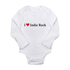 I Love Indie Rock Infant Creeper Long Sleeve Infant Bodysuit
