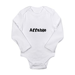 Affable Kids Long Sleeve Infant Bodysuit