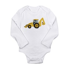 Backhoe Long Sleeve Infant Bodysuit