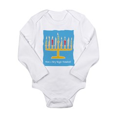 Veggie Hanukkah Long Sleeve Infant Bodysuit