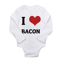 I Love Bacon Infant Creeper Long Sleeve Infant Bodysuit