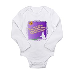 Kids C is for Cat Poetry Infant Creeper Long Sleeve Infant Bodysuit