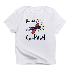 Daddy's lil' Co-Pilot Infant Creeper Infant T-Shirt