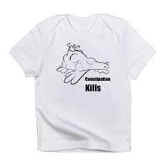 Constipation Kills! Sleeveless Chicken T-Shir Infant T-Shirt