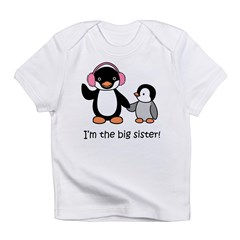 Big Sister - Penguin Infant T-Shirt