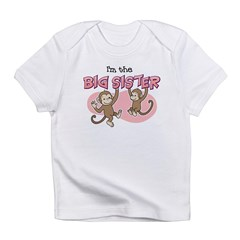 Big Sister (Monkey) Kids Infant T-Shirt