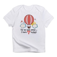 Seventh 7th Birthday Hot Air Balloon Infant T-Shirt